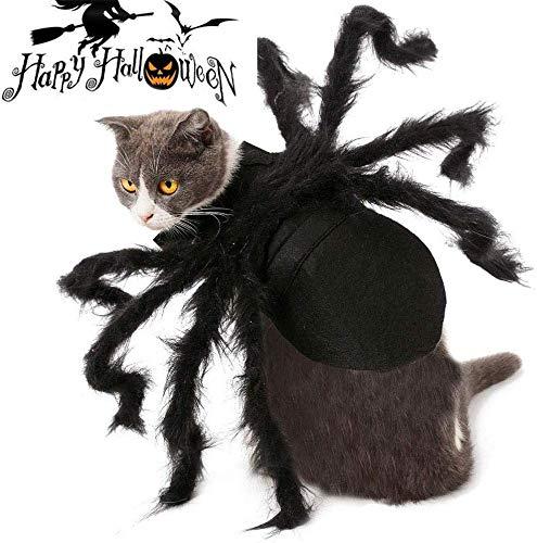 Lesgos Haustier Spinne Kostüm, Halloween Pet Spider Kleidung mit Verstellbarer Neck Paste Schnalle,...