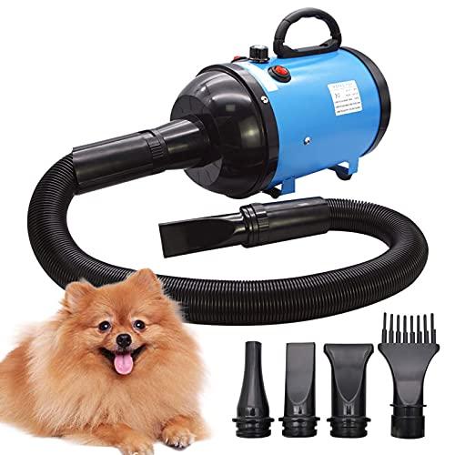 Hundetrockner Hundehaartrockner 2800 W/3,8 HP, stufenlos einstellbare Geschwindigkeit, Tierhaar Gebläse,...