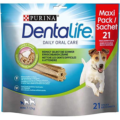 PURINA DENTALIFE Mini Hunde-Zahnpflege-Snacks, reduziert Zahnstein-Bildung und Mundgeruch, Huhn, kleine...