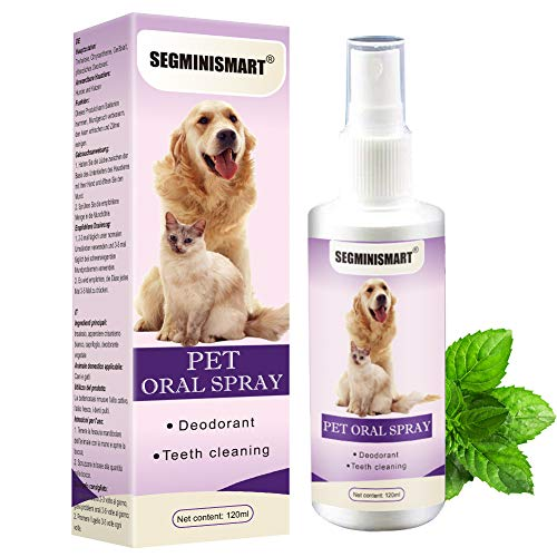 SEGMINISMART Dentalspray für Hunde und Katzen, Dental Care Spray, Zahnpflege und Zahnreinigung für...