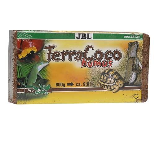 JBL TerraCoco Humus 71026 Bodengrund für alle Terrarientypen Kokoschips komprimiert Torfartig, 600 g, 9...