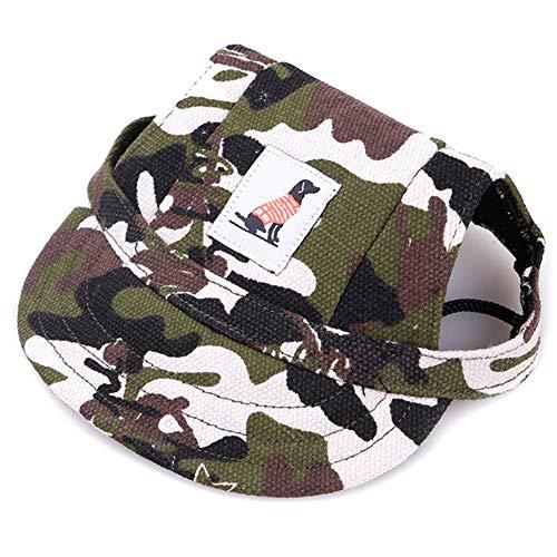 Gelentea Baseballkappe für Hunde, verstellbar, mit Sonnenschutz, Bedruckt, atmungsaktiv, weich,...