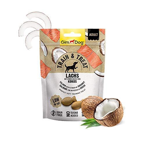 GimDog TRAIN & TREAT Adult - Lachs mit Kokos - Getreidefreie Leckerlis mit geringem Fettgehalt als...