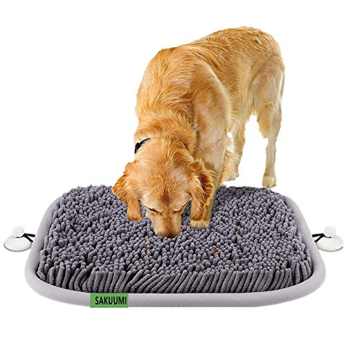 SAKUUMI Schnüffelteppich Hunde mit Fester Saugnapf, intelligenzspielzeug Schnüffelmatte...
