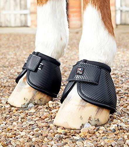 Premier Equine Hufglocken Carbon Tech Kevlar No-Turn Over Reach Boots Black L