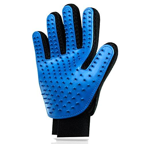 Hochwertiger Fellpflege-Handschuh zur einfachen Entfernung loser Tierhaare - Wie eine Massage für Hund &...