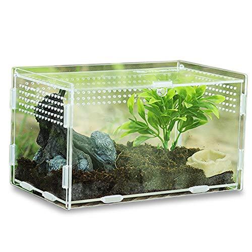 Keweni Insect Feeding Box, Acryl-Terrarium-Behälter für Spinnenechsen-Frosch-Skorpion, Tragbarer...