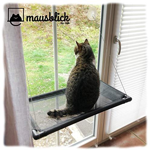 riijk Fenster Katzenhängematte für Katzen bis 23 kg | extra Stabiler Fensterliegeplatz für Katzen |...