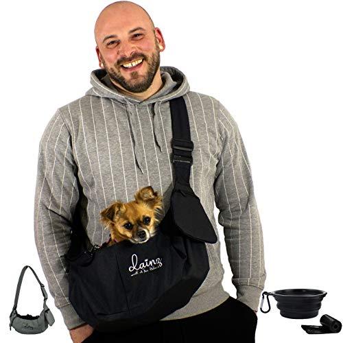 dainz® Hunde-Tragetasche/Hundetasche für kleine Hunde & Katzen bis maximal 3kg inkl. Anschnallgurt &...