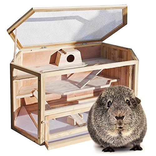 Wiltec Nagerkäfig mit 3 Etagen, klappbarem Deckel & Sichtfenster 115x60x58cm z.B. für Hamster oder...