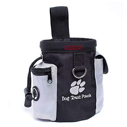 MAXKU Futterbeutel für Hunde - Leckerlitasche Snack Bag mit Clip & Lasche - Futtertasche für...