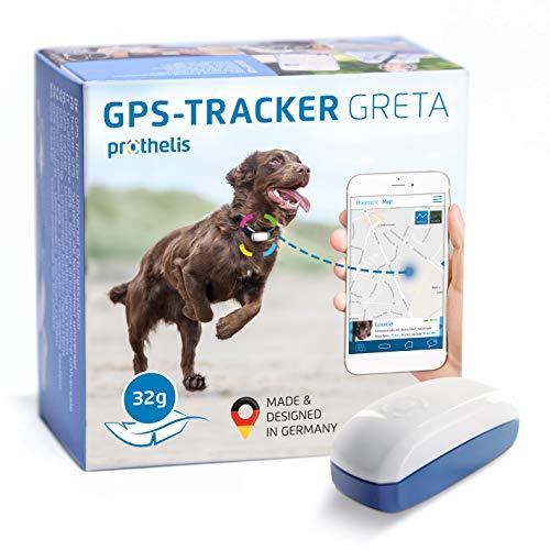 Prothelis Greta GPS Tracker Hund Mini 32g leicht | GPS Tracker für Hunde wasserdicht bis 10m |...