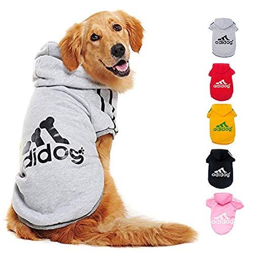 Ducomi Adidog HundeHoodie - Hunde Sweatshirt Kapuze weicher Baumwolle - Mantel Kleidung Pullover Haustier...