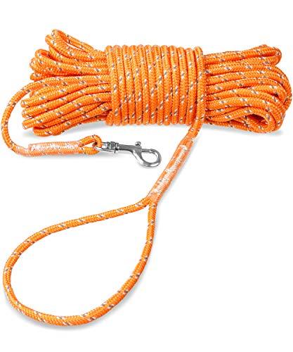 Joytale Reflektierend Schleppleine für Hunde, 10m Kein Verheddern Ausbildungsleine mit Handschlaufe für...