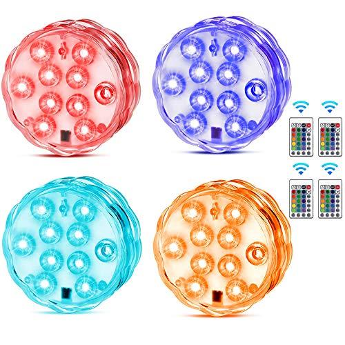 Unterwasser Licht, KIPIDA Unterwasser LED RGB Fernbedienung Multi Farbwechsel Wasserdichte...