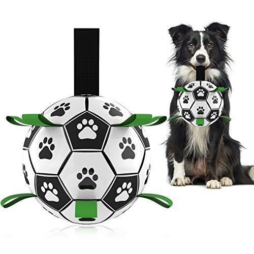 Hetoo Interaktives Hundespielzeug, Fußball, mit Greif-Laschen, langlebige Hundebälle für kleine und...