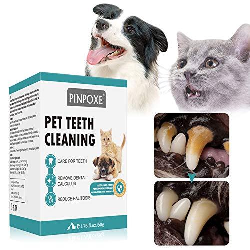 Zahnsteinpulver für Hunde Katzen, Zahnsteinentferner Hund & Katze, Zahnsteinpulver Natürlich,...