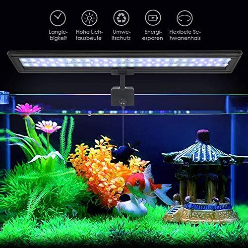 Koopower 45 LED Aquarium Beleuchtung, hellste LED Fisch Clip Aquarium Lampe , Verstellbarer Halterung...