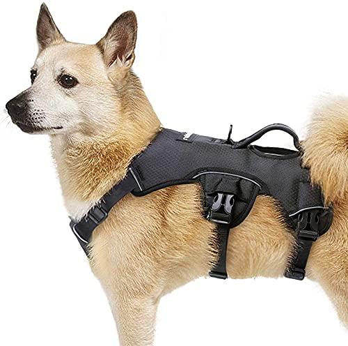 rabbitgoo No Pull Hundegeschirr mit Tragegriff Mittelgroße Hunde Verstellbar Reflektierend Hundeweste...