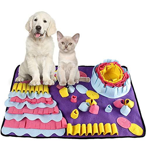 Smatcamp Schnüffelteppich Hund Intelligenzspielzeug Schnüffelteppich für Hunde Waschbar Faltbar...