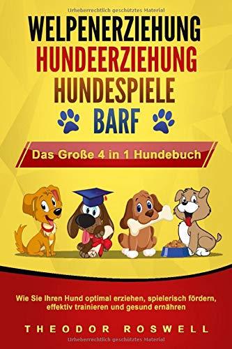 WELPENERZIEHUNG | HUNDEERZIEHUNG | HUNDESPIELE | BARF - Das Große 4 in 1 Hundebuch: Wie Sie Ihren Hund...