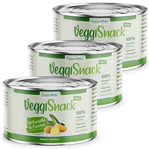 NaturaPets VeggiSnack Hundefutter mit Kartoffel & Zucchini - Veganes Bio-Hundefutter für Erwachsene...