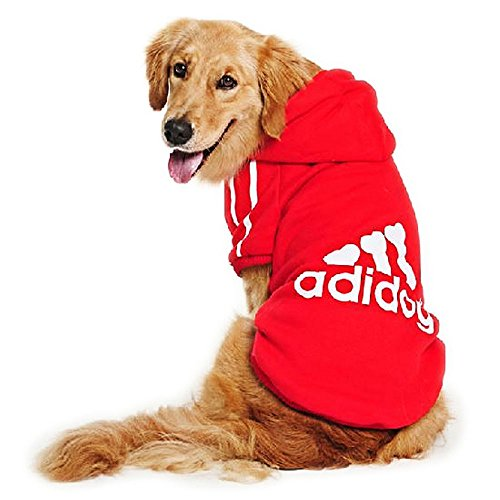 DULEE adidog Hund Warme Hoodies Mantel Jumpsuit Haustier Kleidung Jacke Pullover Baumwolle Pullover...