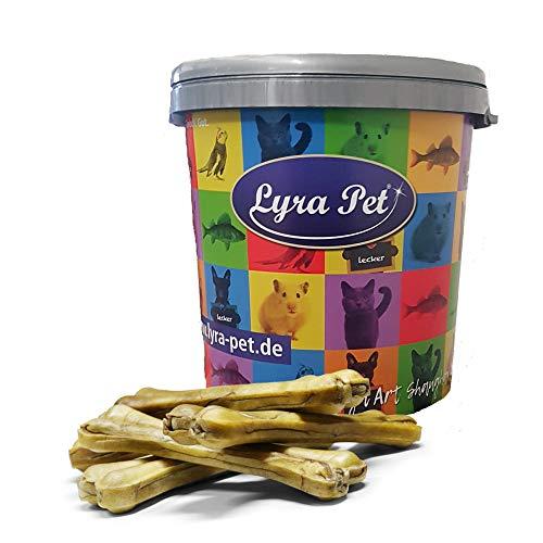 Lyra Pet® 20 Stück Kauknochen ca. 25 cm Rinderhaut gepresst Rohleder Kauartikel Hundefutter Kausnack +...