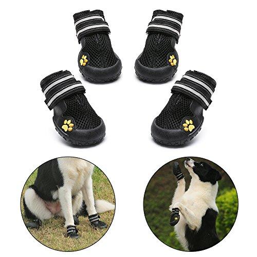 Royalcare Hundeschuhe Schutzstiefel Mesh atmungsaktiv Haustier Schuhe mit verschleißfesten und robusten...