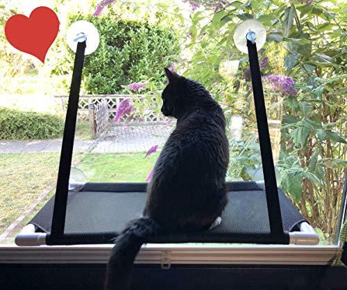 Premium Fensterplatz für die zufriedene Katze Katzenliege Mausblick 360° Ausblick Hängematte...