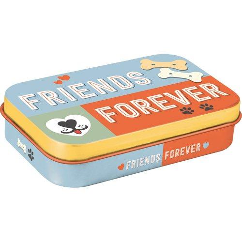 Nostalgic-Art 82203 PfotenSchild - Friends Forever Leckerli-Dose/Box für Unterwegs To Go, mehrfarbig