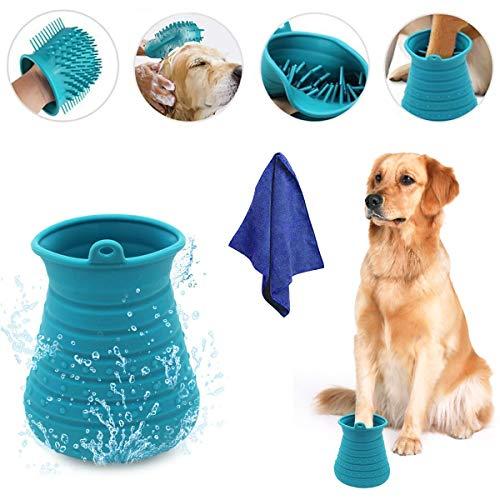 PFativant 2 in 1 Reinigung Massage Pflege Hunde Pfote Reiniger, Silikon Füß Reiniger, Haustier...