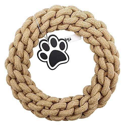 Hundespielzeug Seil für Runde Aus Baumwolle,7.87 'Durchmesser Für Kleine Und Mittlere Hunde (BRAUN)
