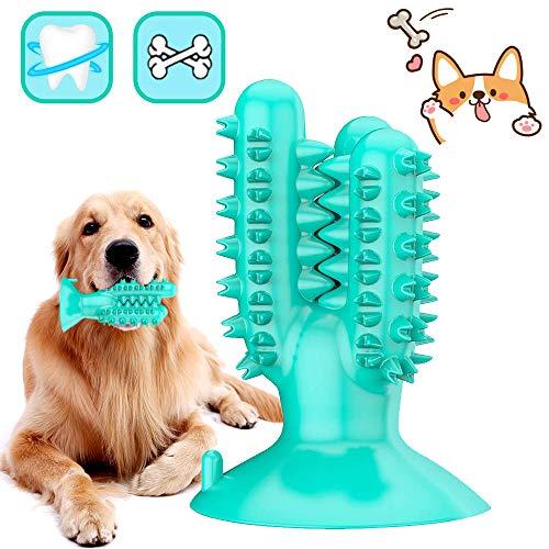 DERU Hundezahnbürste, Zahnbürste Hund, Hunde Zahnpflege Spielzeug, Kaustick aus Naturkautschuk, Hund...