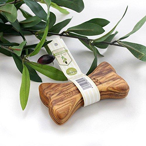 Natürliches Kauspielzeug aus Olivenholz mit Olivenöl - Olivi Dog Bone (S)