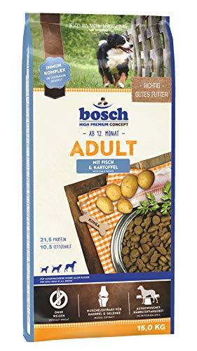 bosch HPC Adult mit Fisch & Kartoffel   Hundetrockenfutter für ausgewachsene Hunde aller Rassen   1 x 15...