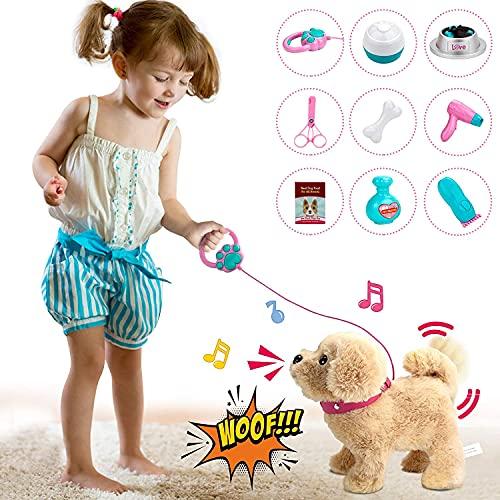 Kinder Mädchen Spielzeug, Plüschtier Spielzeug Hund der Läuft und Bellt, Haustiere Hund, Interaktives...
