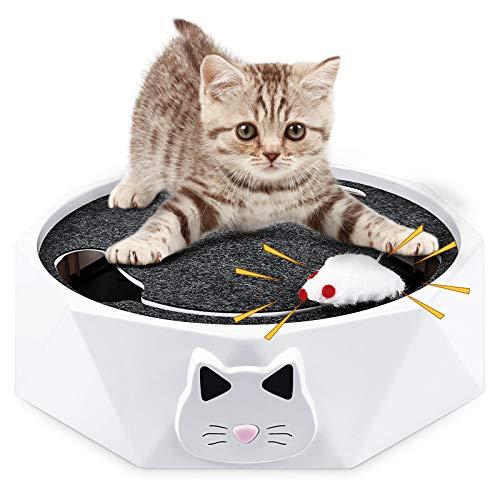 G.C Interaktives Katzenspielzeug elektrische Maus für Katzen Catch me Katzen Spielzeug...