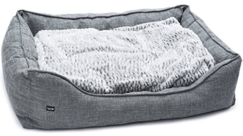 PetPäl Premium Hundebett - Größe L - Hundekorb für mittlere & große Hunde - Hundekissen mit Warmer...