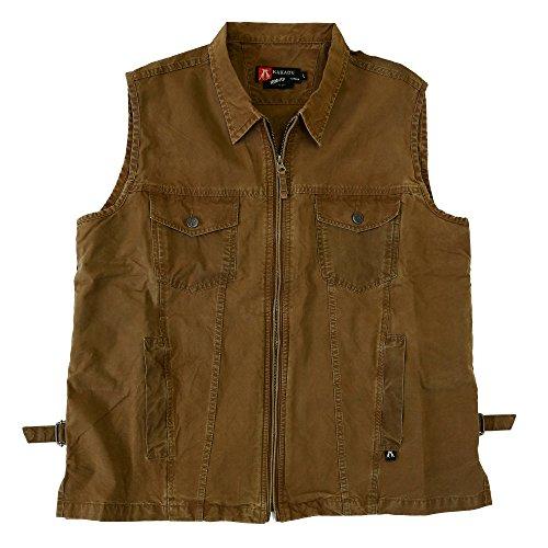 Kakadu Traders Wyatt Vest, leichte Weste aus Baumwolle mit verdeckten Holster, Concealed Carry