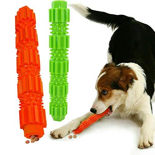 KOMUSII Hunde Zahnpflege Spielzeug,Leckerli-Spender für Hunde Welpen-Zahnpflege,100% Natürlich Weichem...