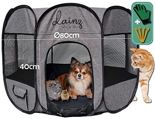 dainz® NEU! Innovativer Welpenauslauf/Welpenlaufstall für Hunde, Katzen & Kleintiere |...