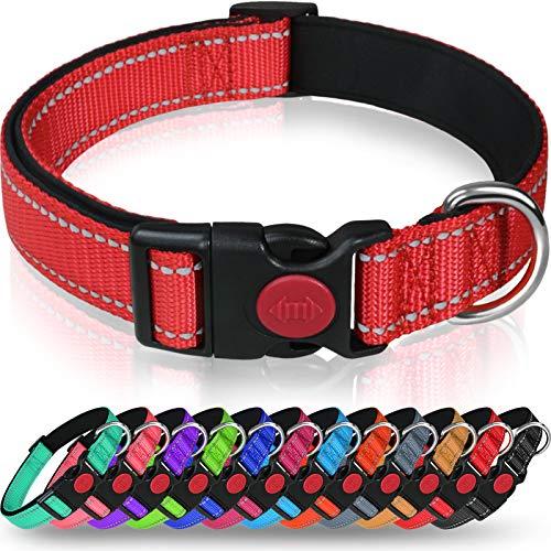 Taglory Hundehalsband, Weich Gepolstertes Neopren Nylon Hunde Halsband für Kleine Hunde, Verstellbare...