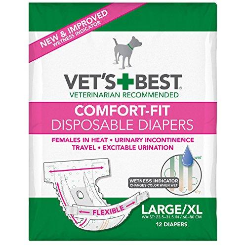 Vet's Best Comfort-Fit Einweg-Hundewindeln, L/XL (12er Packung)