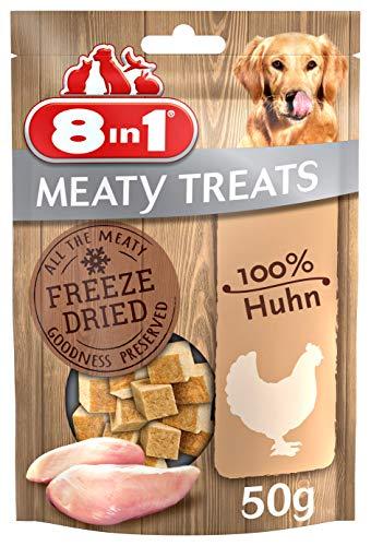 8in1 Meaty Treats, gefriergetrocknete Hunde Leckerlis aus Huhn, 100% Fleisch, getreidefrei und ohne...