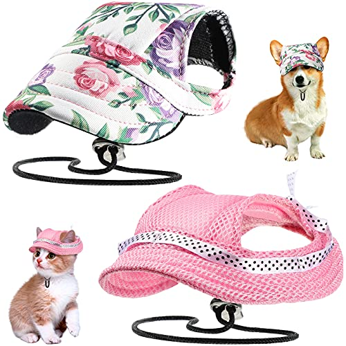 Baseballkappen für Hunde, runde Krempe, Prinzessinnenkappe, Visier, Hüte, Haustier, Outdoor-Sporthüte...