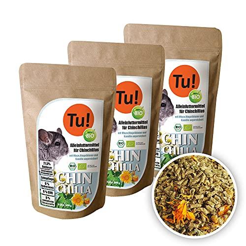 Tu! 100% Bio Chinchilla - Alleinfuttermittel für Chinchillas mit KRÄUTERN angereichert   Tu! 100%...