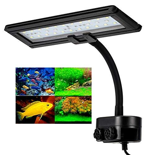 Hygger LED Aquarium Licht, 13W Aquarium Beleuchtung Leuchte Clip, Aquarium LED Lampe Fish Tank Lights,...