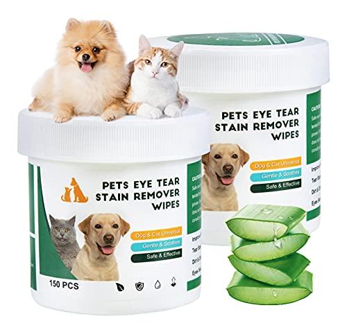 300 Stück Augen-Reinigungspads für Hunde und Katzen, Effektive Reinigung, Kann Schmutz Verhindern,...