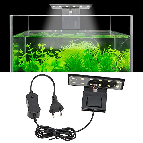 SENZEAL X3 Aquarium LED Beleuchtung Waage Aquarium Lampe Höhe Helligkeit LED Licht 220V 6W 600LM für 8...